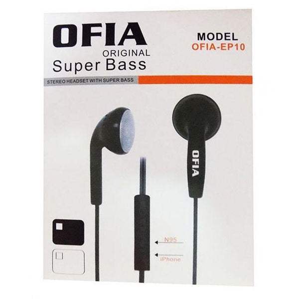 OFIA Super Bass In Ear Headphones - White1
