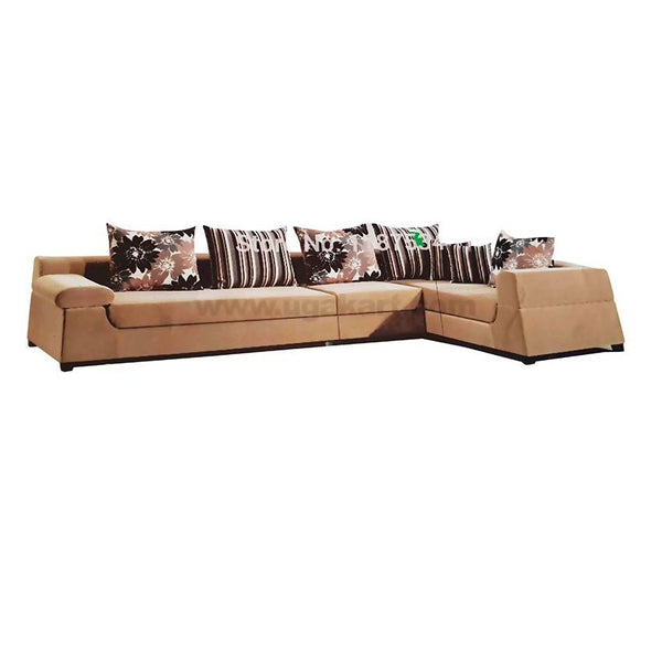 L Shaped 5 Seaters Large Sofa High Density With fibre Cushions