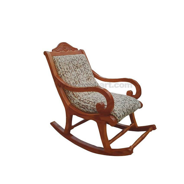 Indoor Rolling Wooden Chair With Cushion