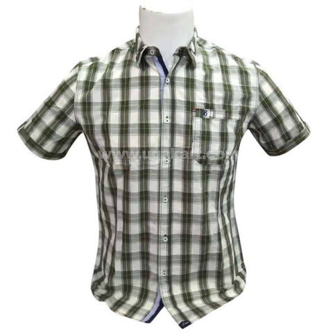 Short Sleeve Men's Casual And Office Checkered Shirt