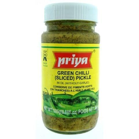 Priya Green Chilli Pickle 300Gms