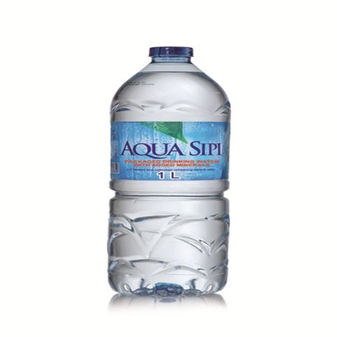 AQUA Sipi Drinking Water-12 X 1000 ml With Added Minerals