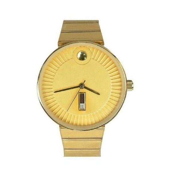 Unisex designer gold watch1