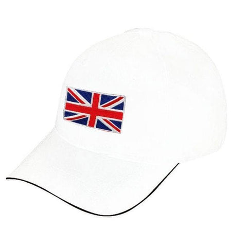 UK Flag Designed Cap - White
