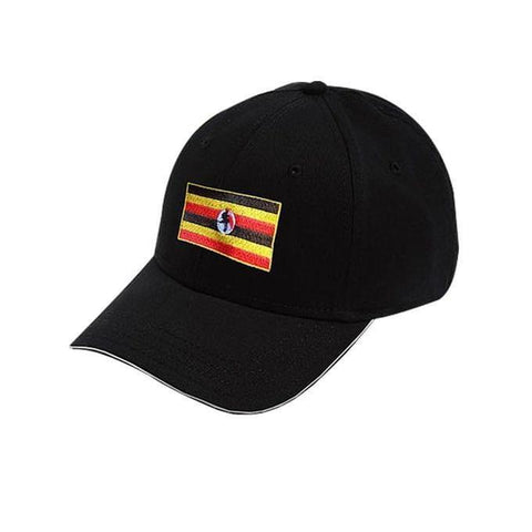 Uganda Flag Designed Cap - Black