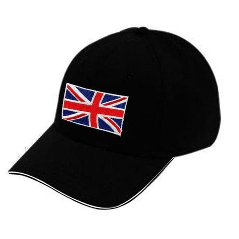 UK Flag Designed Cap - Black