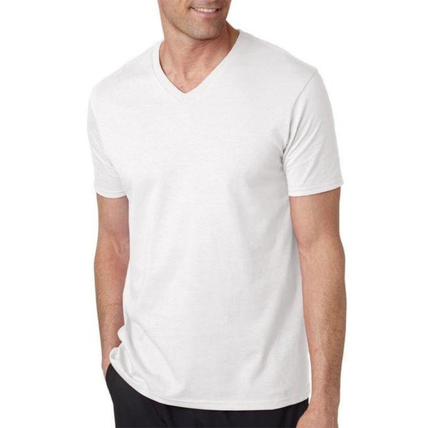 Men's Casual V-Neck T-Shirt - White