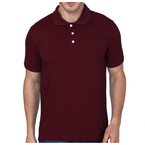 Maroon Polo Men's Designer T-Shirt