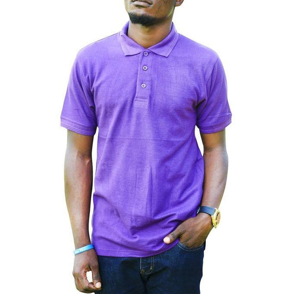 Men's Polo T-Shirt - Purple