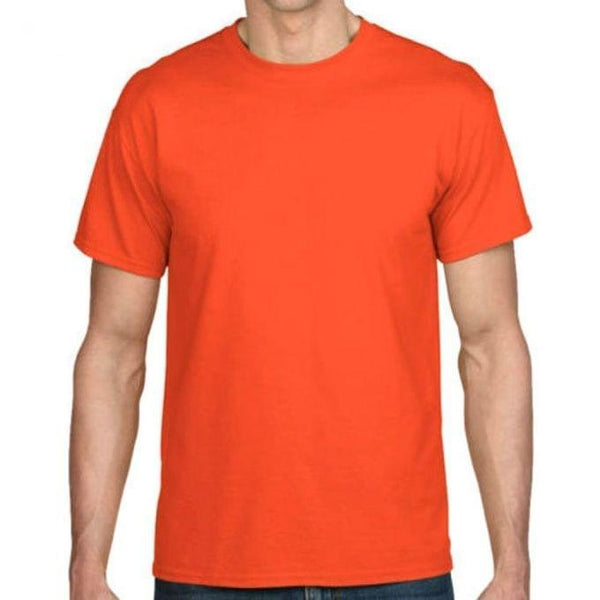 Plain Orange Designer Men's T-Shirt