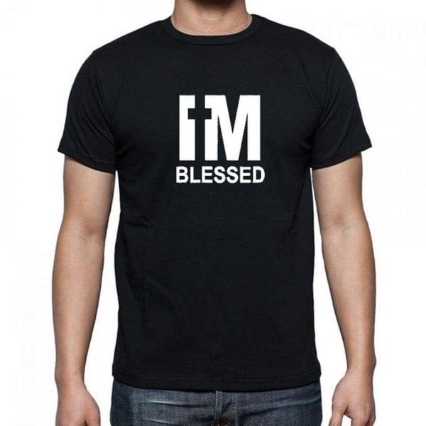 I'M BLESSED Men's T-Shirt - Black