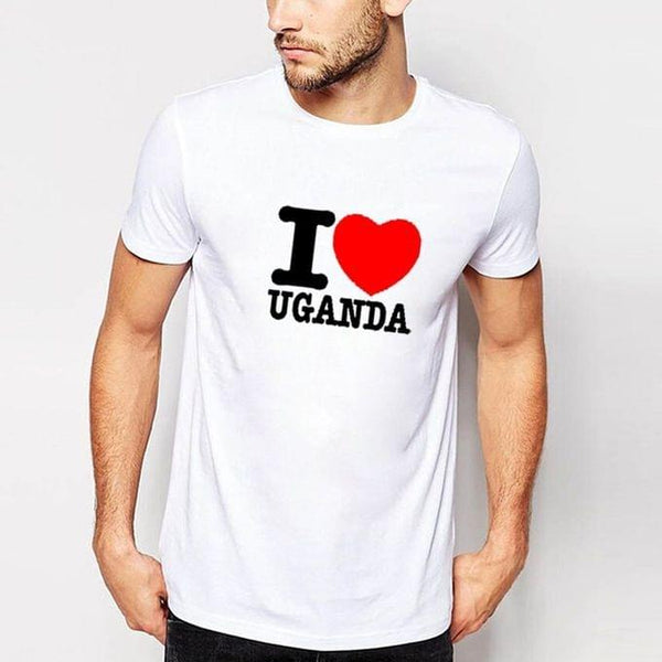 I love Uganda Men's T-Shirt - White