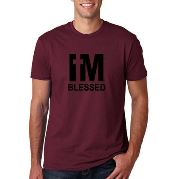 I'M BLESSED Men's T-Shirt - Maroon