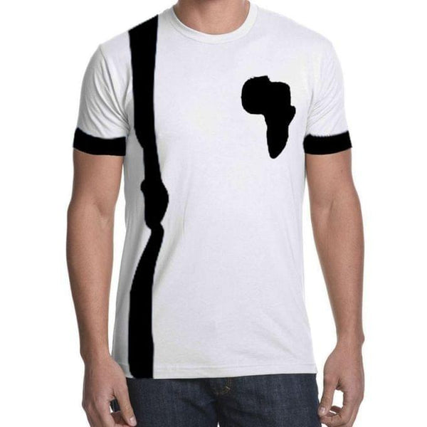 Men's Casual African T-Shirt - White