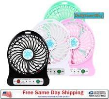 "CK 2194 Rechargeable Fan 10"" with USB Slote"
