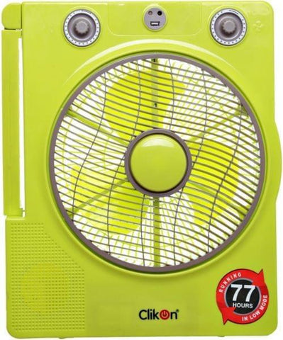 CK 2801 RECHARGEABLE FAN 12""