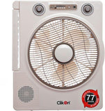 CK 2802 RECHARGEABLEFAN WITH MUSIC PLAYER 12""
