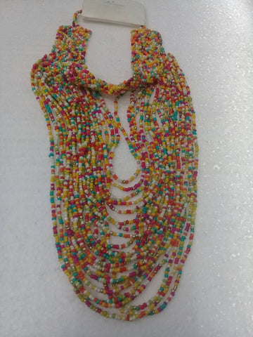 African Beaded Statement Necklace