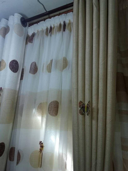 White And Cream Curtains Per Meter