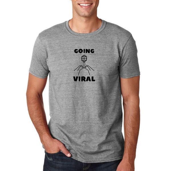 Round Neck Going Viral Grey T-Shirt