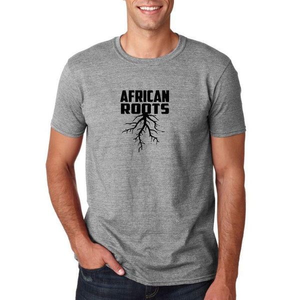 Round Neck African Roots Grey T-Shirt