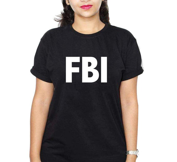 Fbi Black Ladies T-Shirt
