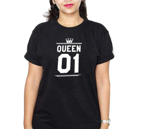 Queen 01 Black Ladies T-Shirt