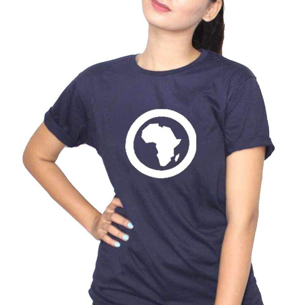 Africa Navy Blue Ladies T-Shirt