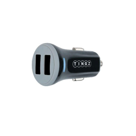 Tingz Car Charger 3.4A Universal Dual USB Car Charger Black (TCCD48-B)