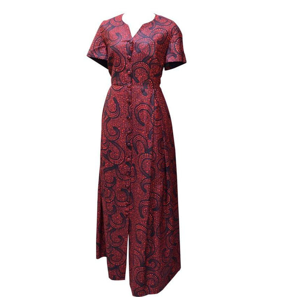Long African Ladies Dress Red