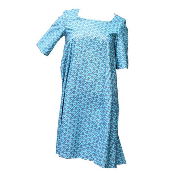 Free Round Light Blue Ladies Dress