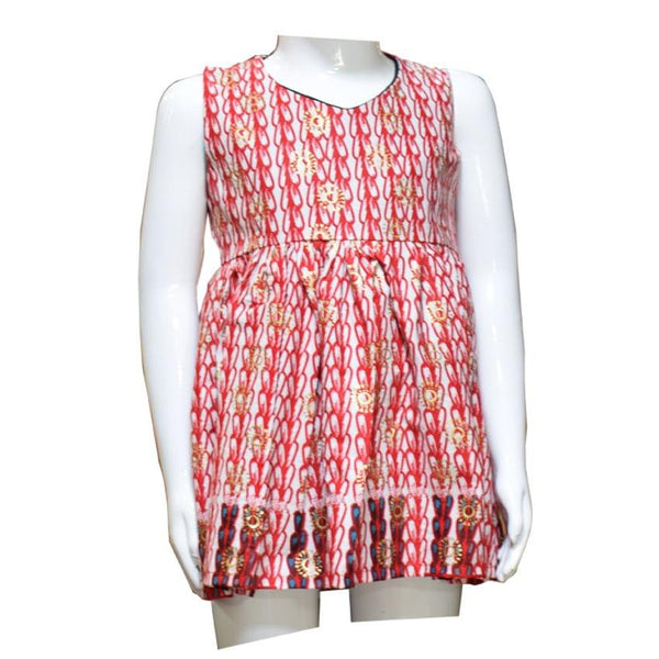Red Round Kids Dress (1-3Yrs)