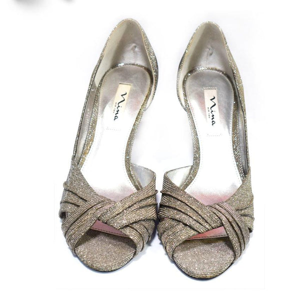 Nina  Bridal Silver Shoes