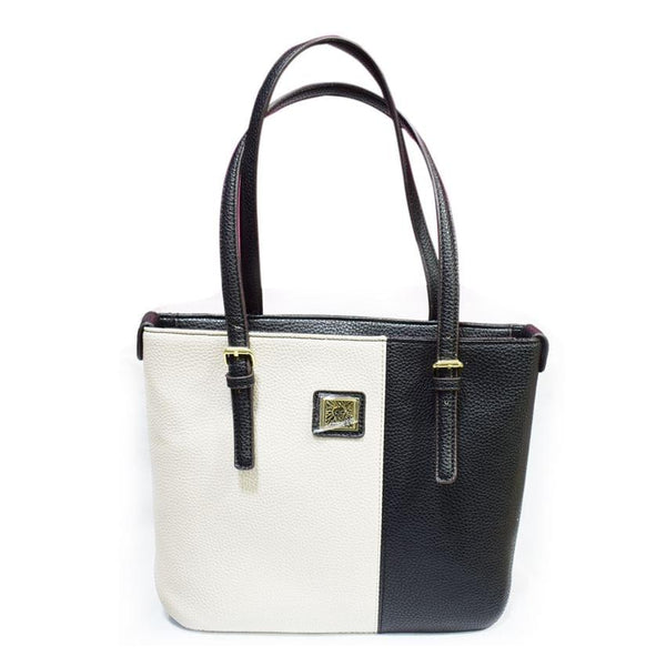 Annklein White And Black Ladies Hand Bag