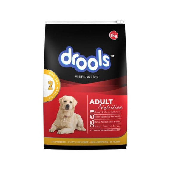 Drools Adult - Chicken & Egg.3 Kgs