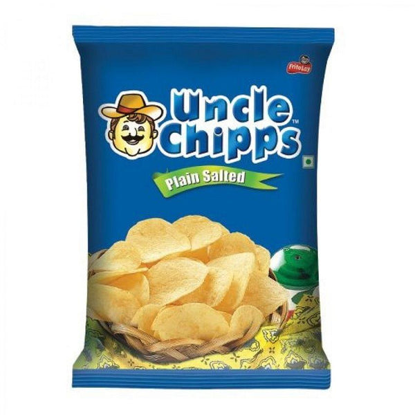 Uncle Chipps Plain Salted 60G