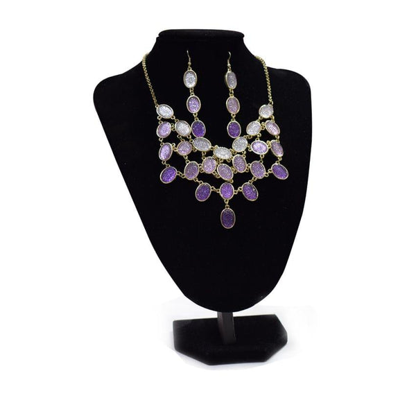 Charles Klein Purple Necklace