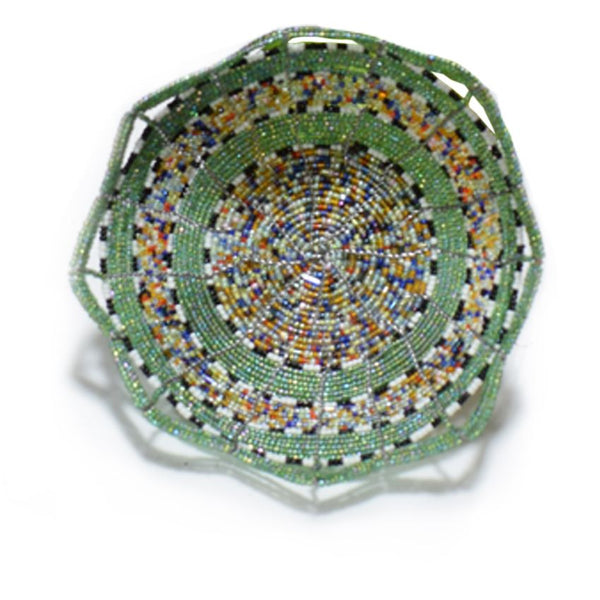 Fruits Beaded Basket Green