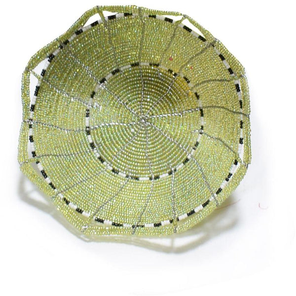 Fruits Beaded Basket Light Green