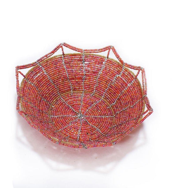 Fruits Beaded Basket Red