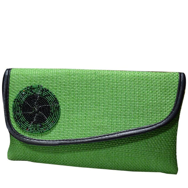 Ladies Clutch Bag Light Green