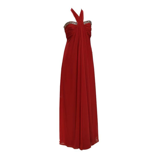 Red Dinner Dress With A Sweetheart Neckline