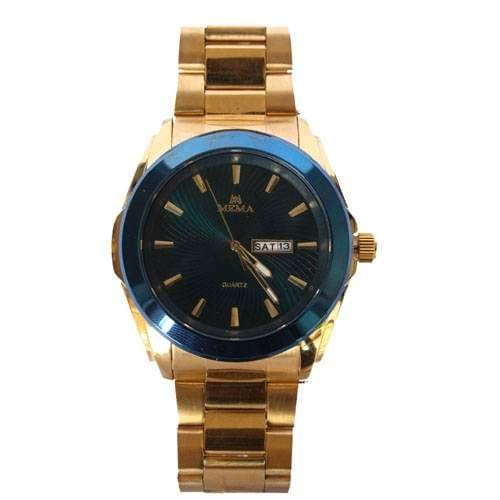 Mens Designer Watch Gold And Blue