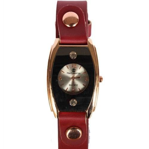 Ladies Designer Watch Maroon