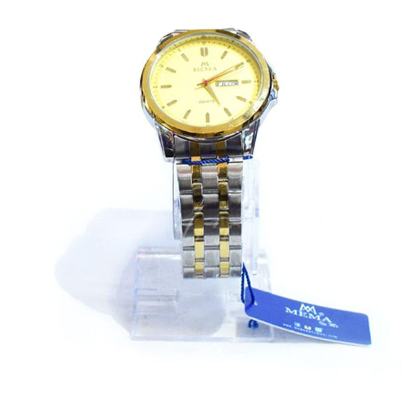 Quartz Mema Silver And Gold Men's Watch