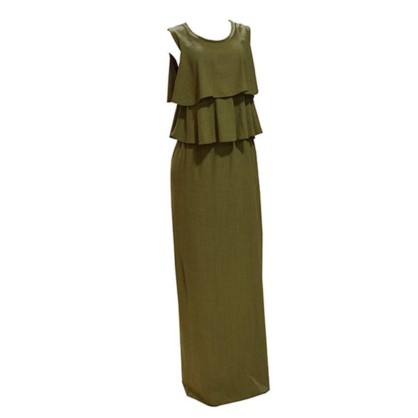 Army Green Ladies Dress