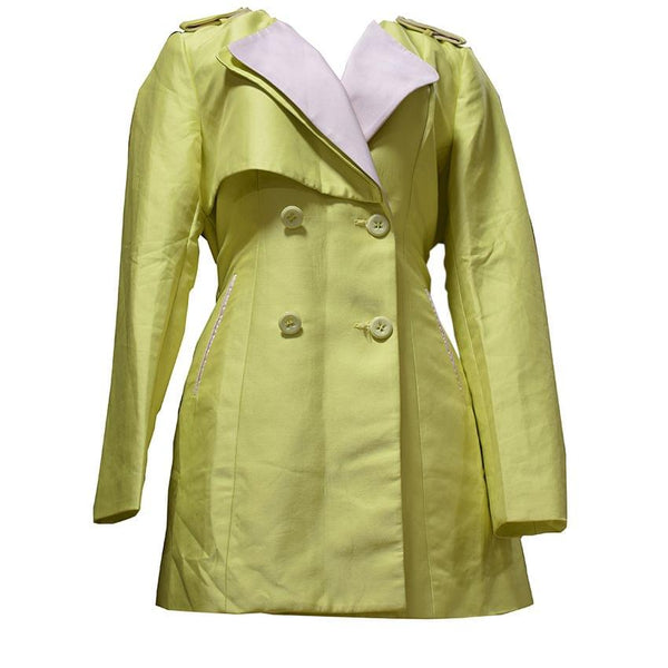 Lime Green Trench Coat