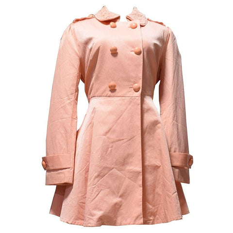 Light Orange Trench Coat