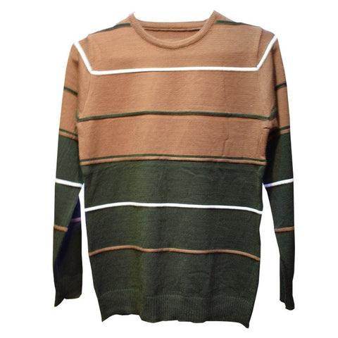 Brown And Army Green Coloured Sweater