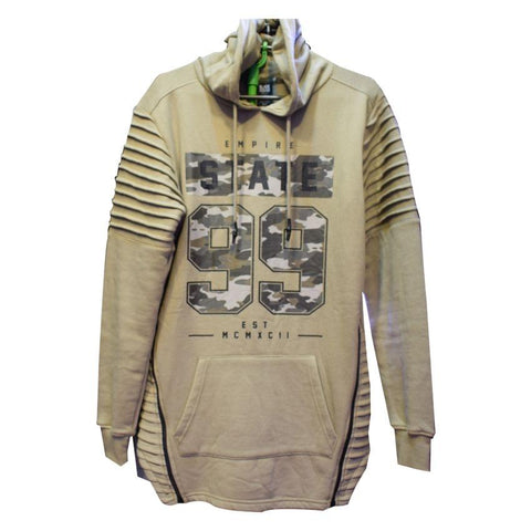 Cream Men's Jumper With Hood